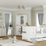 سرویس خواب نوزاد نوجوان مدل کینگ رنگ سفید