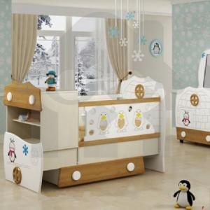 تخت خواب نوزاد - مدل اسکیمو- کمد - ویترین - دراور