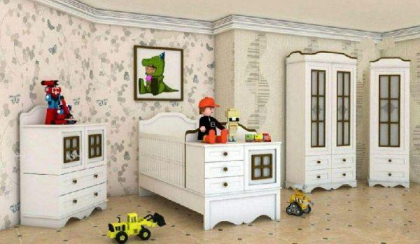تخت خواب نوزاد نوجوان مدل دیاموند دراور ویترین و کمد مدل دیاموند