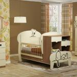تخت خواب نوزاد نوجوان - مدل اسنوفی کمد کنج دار دراور شلف دیواری