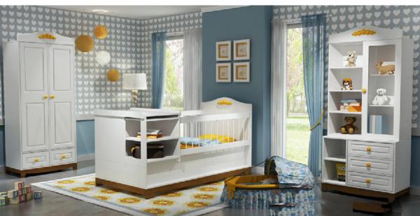 تخت خواب دومنظوره - نوزاد نوجوان کمد ویترین رنگ سفید