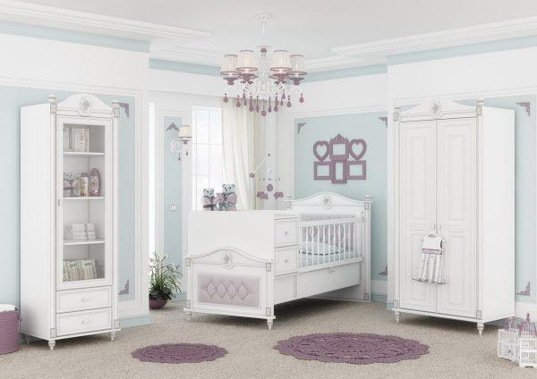 تخت و کمد نوزاد - ویترین نوزاد - سیسمونی نوزاد