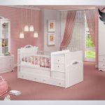 سرویس خواب نوزاد نوجوان مدل رز به همراه کمد و ویترین رنگ سفید