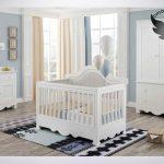 اسنتثنایی ترین سرویس خواب نوزادبه همراه کنسول کمد شلف دیواری رنگ سفید