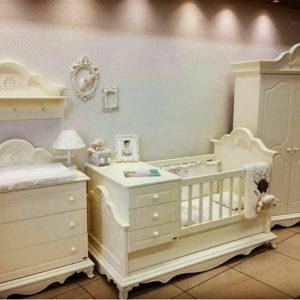 تخت خواب نوزاد نوجوان مدل پرنس